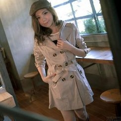 Lucky Leaf - Hooded Trench Coat