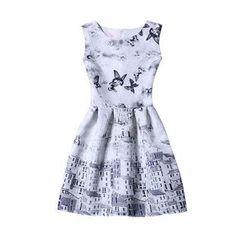 Flore - Sleeveless Printed Dress