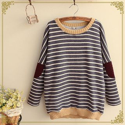Fairyland - Striped Elbow-Patch Pullover