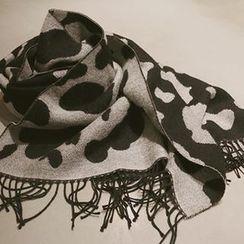 NANING9 - 豹紋流蘇圍巾