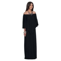 Hotprint - Off-Shoulder Maxi Dress