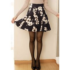 MyFiona - Floral Print Flare Skirt