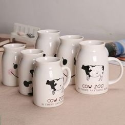 ALITE - 牛印花陶瓷馬克杯