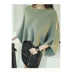 ATTYSTORY - Slit-Sleeve Loose-Fit Knit Top