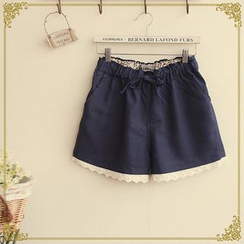 Fairyland - Lace Trim Drawcord Shorts