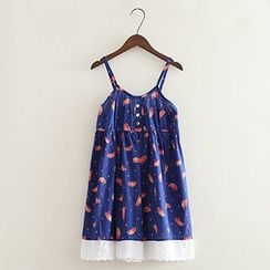 ninna nanna - Print Spaghetti Strap Dress