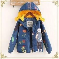 布衣天使 - 印花夾棉大衣