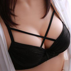 HYG Lingerie - Set: Cross-Strap Push-up Bra + Panties
