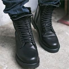 MITOSHOP - Lace-Up Short Boots