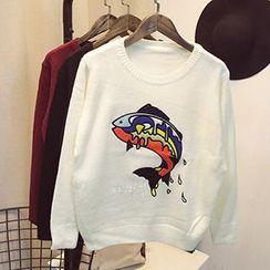 Polaris - 刺繡毛衣