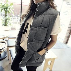 NANING9 - Snap-Button Padded Vest