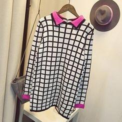 Polaris - Double Collar Check Sweater