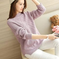 Romantica - Plain Mock-Neck Sweater