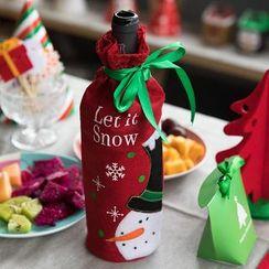 聚可愛 - 刺繡聖誕酒瓶套