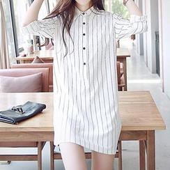 Jolly Club - Striped Shirtdress