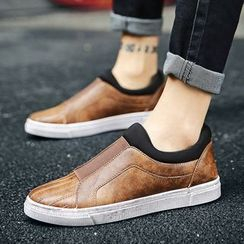 Araeo - Faux Leather Slip-Ons