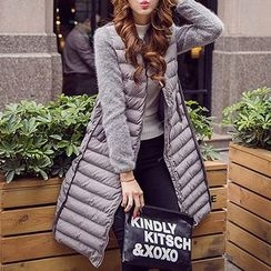 Queen Bee - Knit Panel Padded Coat