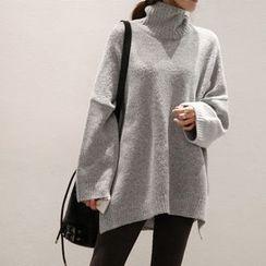 NANING9 - Turtle-Neck Oversized Sweater