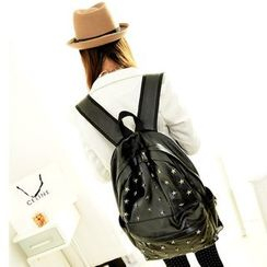 Seok - Star Stud Faux Leather Backpack