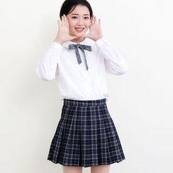 三木社 - 格纹百褶裙