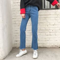 Dute - Cropped boot Cut Jeans