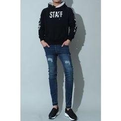 Ohkkage - Fleece-Lined Hoodie T-Shirt