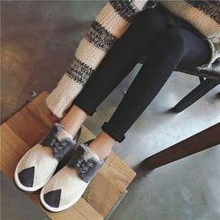 Hipsole - Faux-Suede Color-Block Casual Shoes