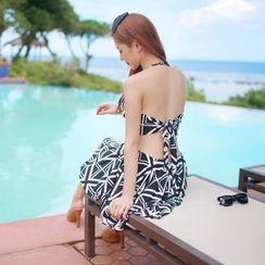 Shanyoo - Printed Swimdress