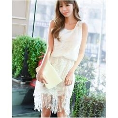 Dowisi - Fringed Sleeveless Dress