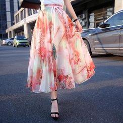 Romantica - Printed Midi Skirt