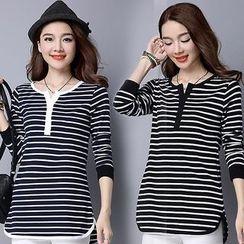 Salisha - Striped Long-Sleeve T-Shirt