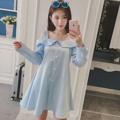 Smitti - Off-shoulder Strap Chiffon Dress