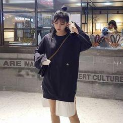 OCTALE - Long-Sleeve Mock Two Piece Dress