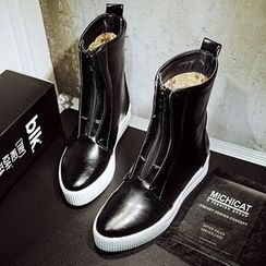 Gizmal Boots - Zip Mid Cuff Boots