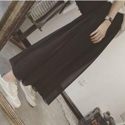 Moon City - Pleated Maxi Skirt