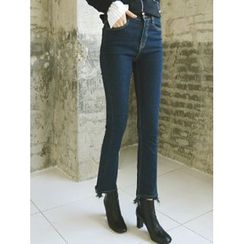 LOLOten - Dip-Back Semi Boot-Cut Jeans