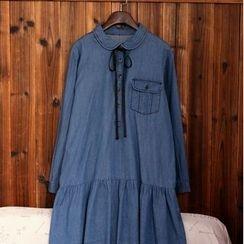 tete - Denim Collared Dress