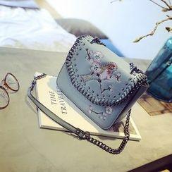 Secret Garden - 刺绣链条单肩包