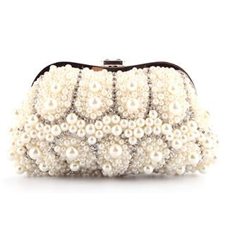 Ethel - Rhinestone Beaded Clutch