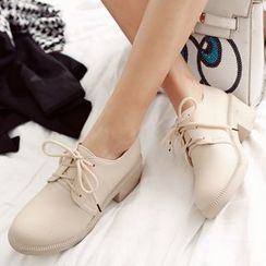 Gizmal Boots - Block Heel Lace Up Shoes