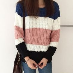 Cloud Nine - Color Block Sweater