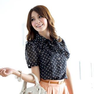 Tokyo Fashion - Ruffle Dotted Blouse