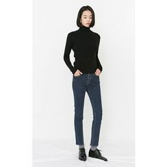 Someday, if - Turtle-Neck Wool Blend Knit Top