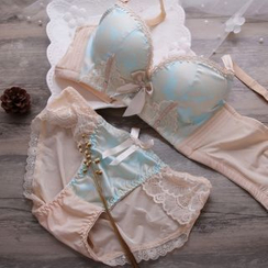 HYG Lingerie - Set: Lace Panel Bra + Panties