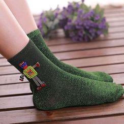 NECTARY - Beaded Robot Socks