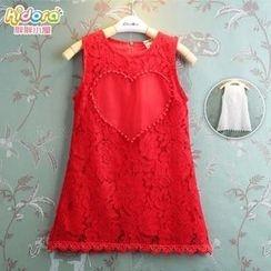 Kidora - 兒童無袖蕾絲連衣裙