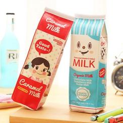 School Time - 牛奶卡通铅笔收纳盒