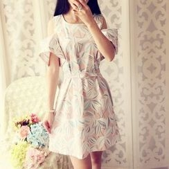 Cobblestone - Patterned A-Line Dress