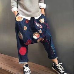 tete - Printed Cropped Jeans