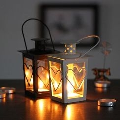 Retro Times - Heart Candle Lantern